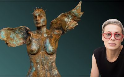 Sculptural Painter and Visual Storyteller, Cathleen Klibanoff discusses her process and style
